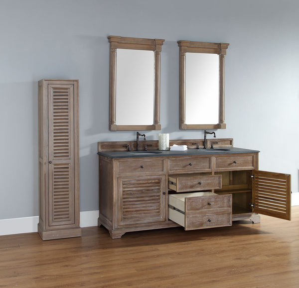 "James Martin Savannah Collection 72"" Double Bathroom Vanity, Driftwood 238-104-5711 - Score Materials - 3"