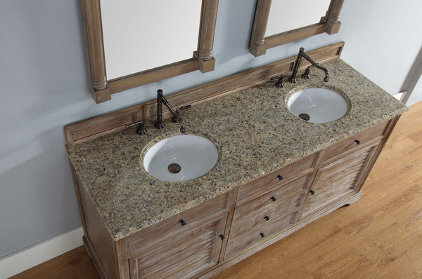"James Martin Savannah Collection 72"" Double Bathroom Vanity, Driftwood 238-104-5711 - Score Materials - 6"