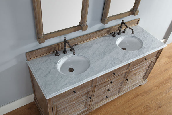 "James Martin Savannah Collection 72"" Double Bathroom Vanity, Driftwood 238-104-5711 - Score Materials - 7"