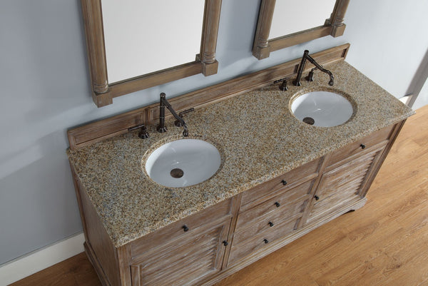 "James Martin Savannah Collection 72"" Double Bathroom Vanity, Driftwood 238-104-5711 - Score Materials - 8"