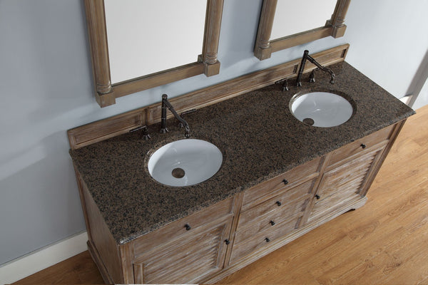 "James Martin Savannah Collection 72"" Double Bathroom Vanity, Driftwood 238-104-5711 - Score Materials - 9"