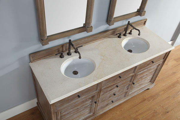 "James Martin Savannah Collection 72"" Double Bathroom Vanity, Driftwood 238-104-5711 - Score Materials - 10"