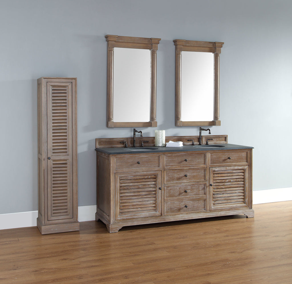 "James Martin Savannah Collection 72"" Double Bathroom Vanity, Driftwood 238-104-5711 - Score Materials - 1"