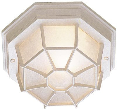 PREFERRED INDUSTRIES® OUTDOOR OCTAGON CEILING FIXTURE, WHITE, 10-1/4 IN., USES 1 60-WATT INCANDESCENT MEDIUM BASE LAMP* - Score Materials