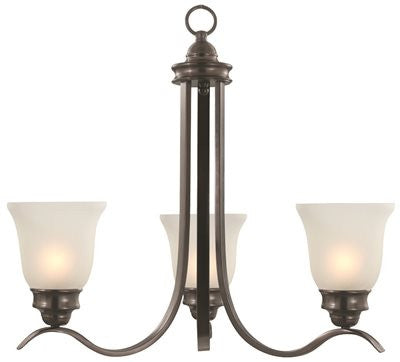 MONUMENT® CHANDELIER, OIL RUBBED BRONZE, 24-3/4 IN - Score Materials