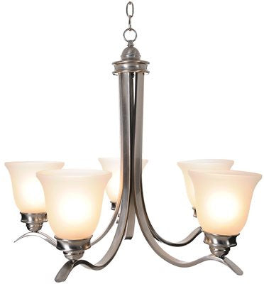 SANIBEL™ CHANDELIER, BRUSHED NICKEL, 27-1/2 X 22-3/4 IN - Score Materials