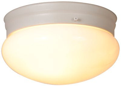 MUSHROOM SHAPED CEILING FIXTURE, WHITE, 9-1/8 IN - Score Materials