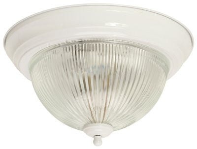 MONUMENT® HALOPHANE DOME CEILING FIXTURE, WHITE, 11 IN., - Score Materials