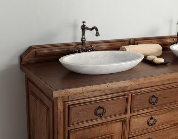 "James Martin Solid Wood 72"" Mykonos Double Bathroom Vanity In Cinnamon 550-V72-CIN - Score Materials - 5"