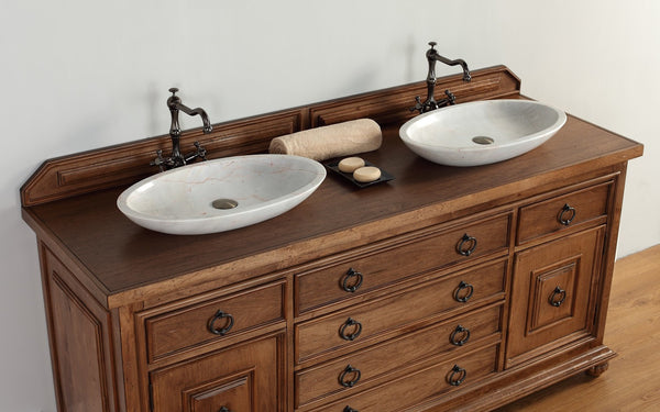 "James Martin Solid Wood 72"" Mykonos Double Bathroom Vanity In Cinnamon 550-V72-CIN - Score Materials - 7"