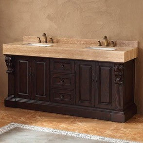 "James Martin Toscano Collection Solid Wood 72"" Double Bathroom Vanity, Dark Cherry 206-001-5515 - Score Materials - 2"
