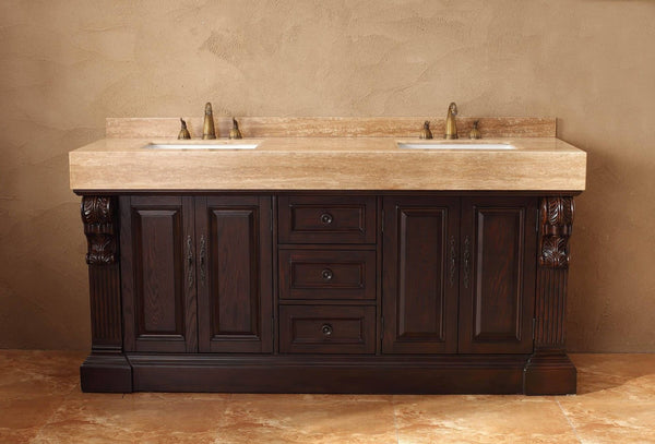 "James Martin Toscano Collection Solid Wood 72"" Double Bathroom Vanity, Dark Cherry 206-001-5515 - Score Materials - 8"