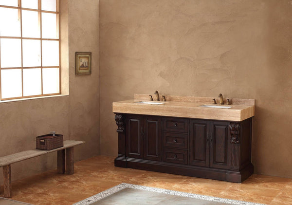 "James Martin Toscano Collection Solid Wood 72"" Double Bathroom Vanity, Dark Cherry 206-001-5515 - Score Materials - 9"