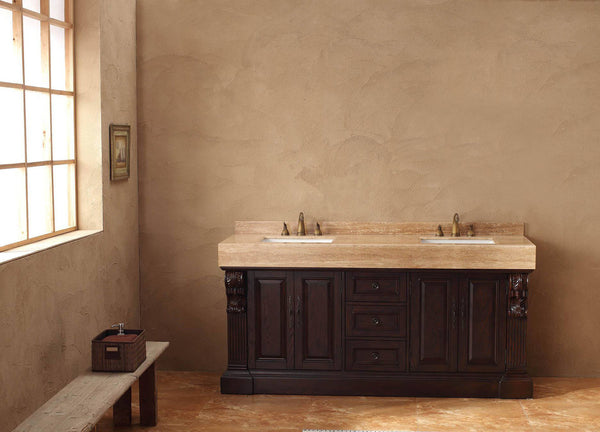 "James Martin Toscano Collection Solid Wood 72"" Double Bathroom Vanity, Dark Cherry 206-001-5515 - Score Materials - 1"