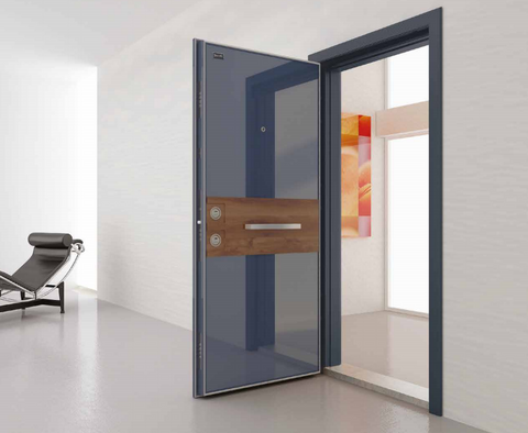 Alya Glass and Steel Security Door - Score Materials - 1