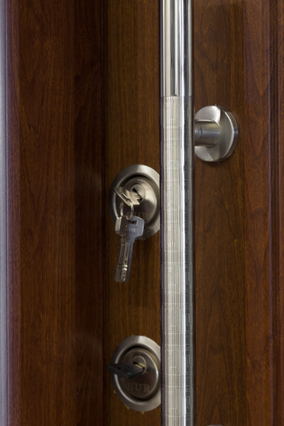 Otantika Steel Security Door With Decorative Glass - Score Materials - 5