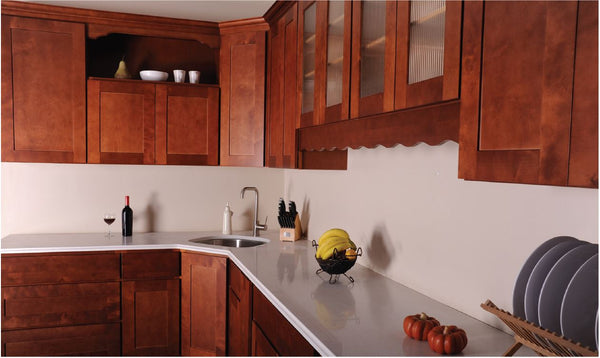 "Wall 39"" Cabinets Cinnamon Brown Shaker - Score Materials - 3"