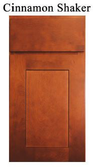 Base Single Door Angled Transitional Cabinet Cinnamon Brown Shaker - Score Materials - 2