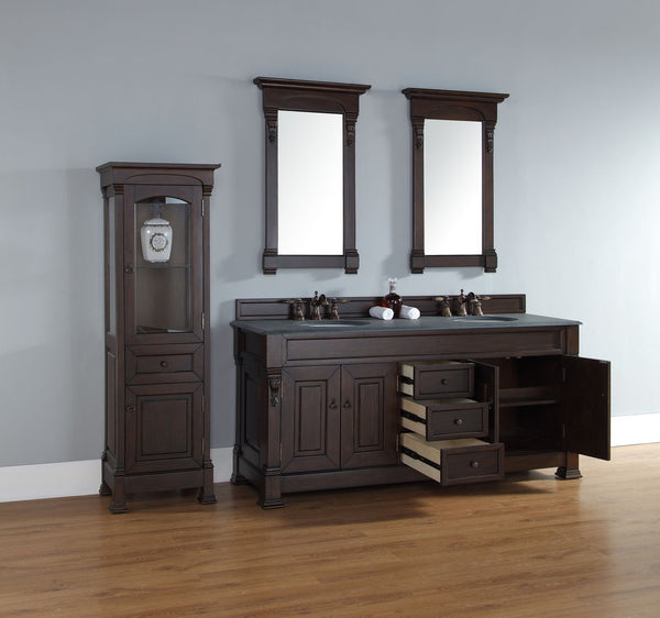 "James Martin Solid Wood 72"" Brookfield Double Bathroom Vanity, Burnished Mahogany 147-114-5761 - Score Materials - 2"