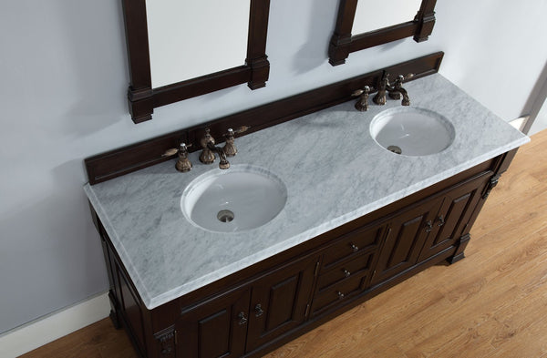 "James Martin Solid Wood 72"" Brookfield Double Bathroom Vanity, Burnished Mahogany 147-114-5761 - Score Materials - 5"