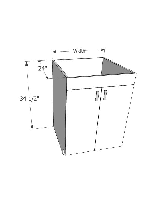Sink base cabinet Double doors (No Drawer) - Score Materials