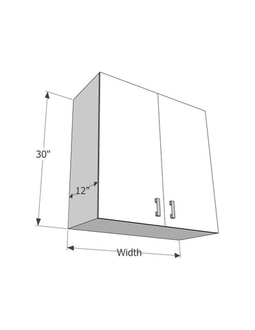 "Wall 30"" cabinets (With 2 doors) - Score Materials"