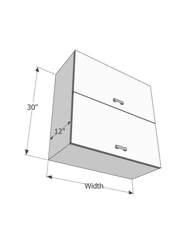 "Wall 30"" cabinets (With 2 flip up doors) - Score Materials"