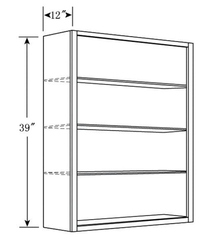 "2 Door Wall 39"" Cabinets Warm Cherry - Score Materials - 1"