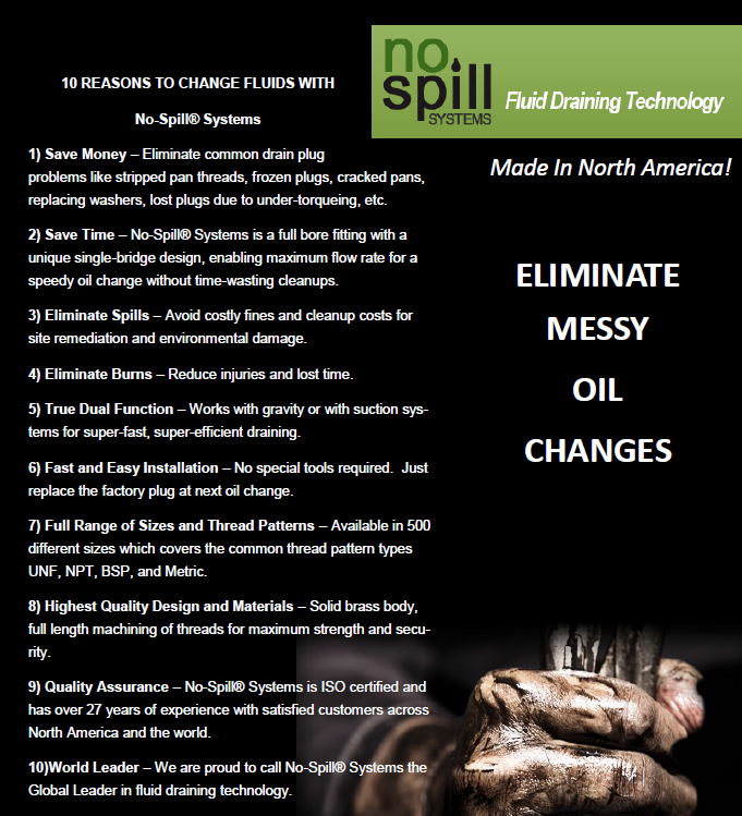 10 Reasons to Change Fluids with No Spill Systems