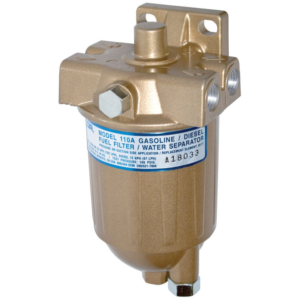 eff - high pressure fuel filter/water separator - racor 110a series