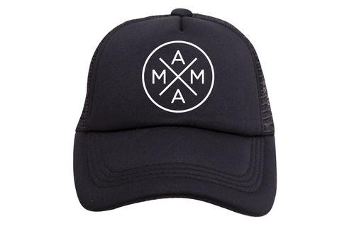 Tiny Trucker Mama Black Trucker Hat