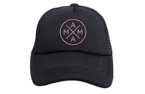 Tiny Trucker Mama X Rose Gold Glitter Trucker Hat