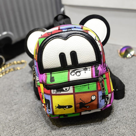 Teenager Girl Multicolored Backpack