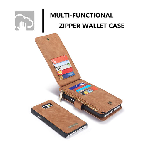 Genuine Leather Phone Case And Wallet For Samsung Galaxy Note 5
