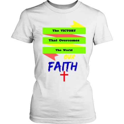Faith Victory District Womens T-Shirt