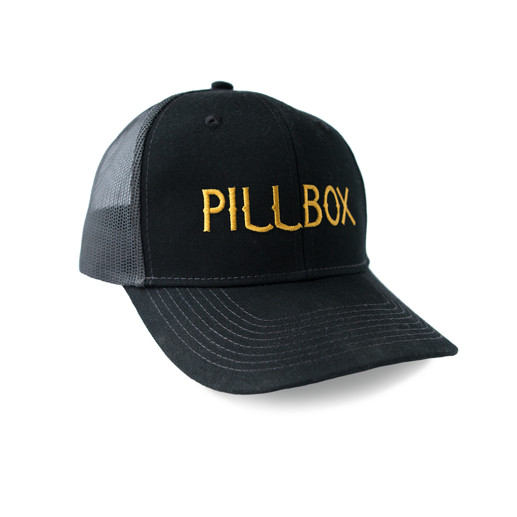 Mesh Trucker Pillbox Hat