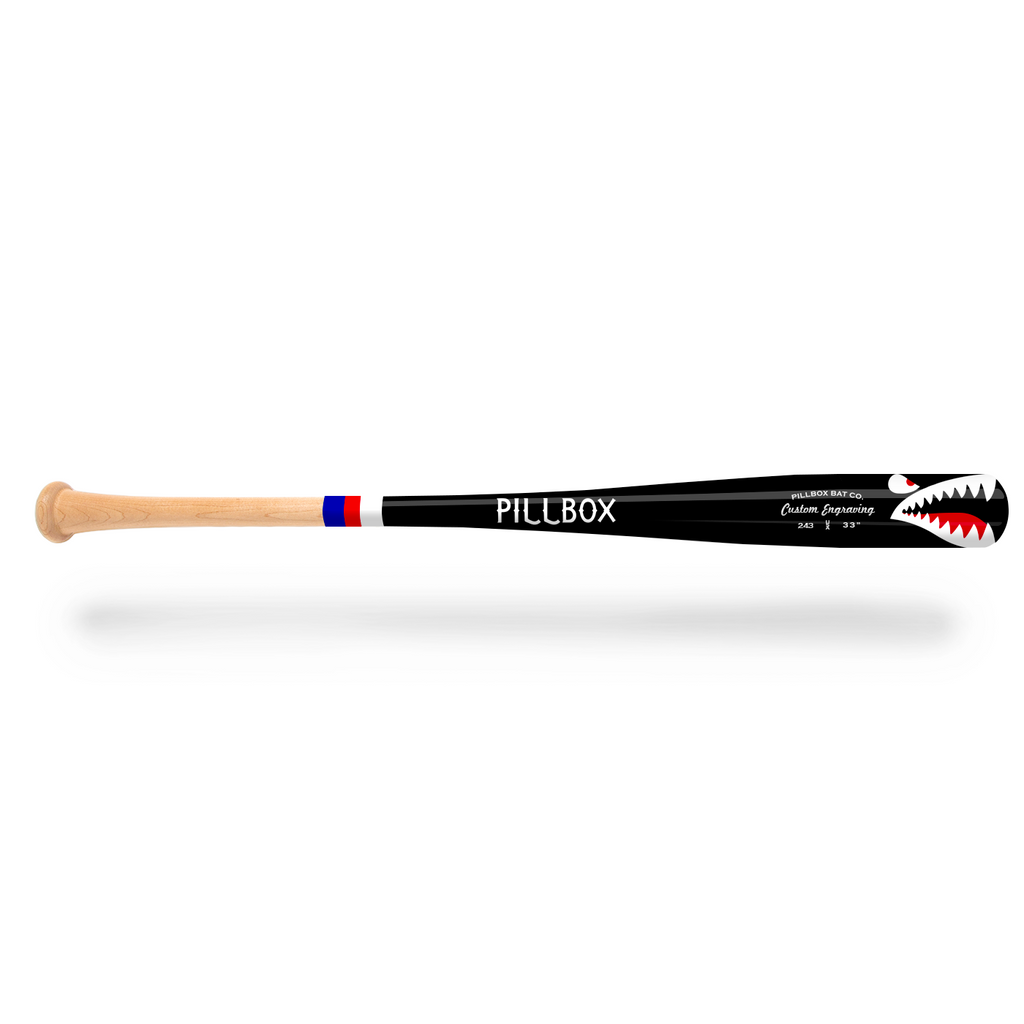 PB243 - Shark Maple Wood Bat - Pillbox Bat Co.