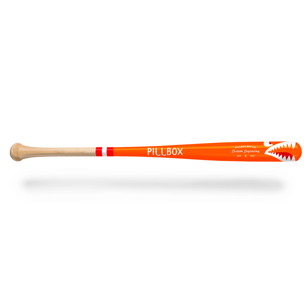 PB271 - Shark Maple Wood Bat - Pillbox Bat Co.