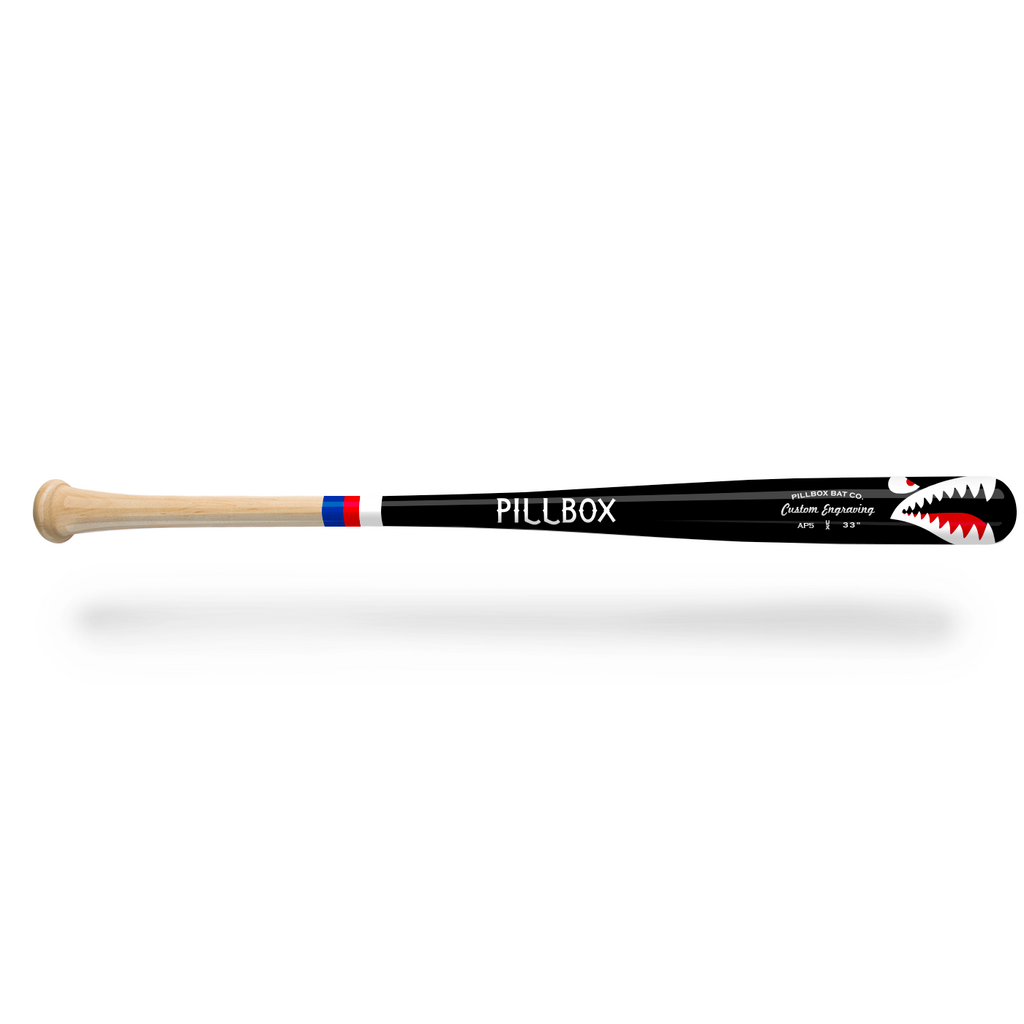 PBAP5 - Shark Maple Wood Bat - Pillbox Bat Co.
