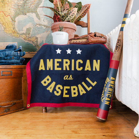 """American as Baseball"" Banner - Pillbox Bat Co."