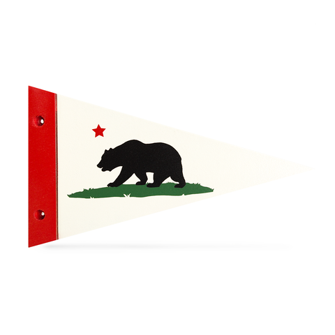 Bear Flag - Wooden Pennant - Pillbox Bat Co.