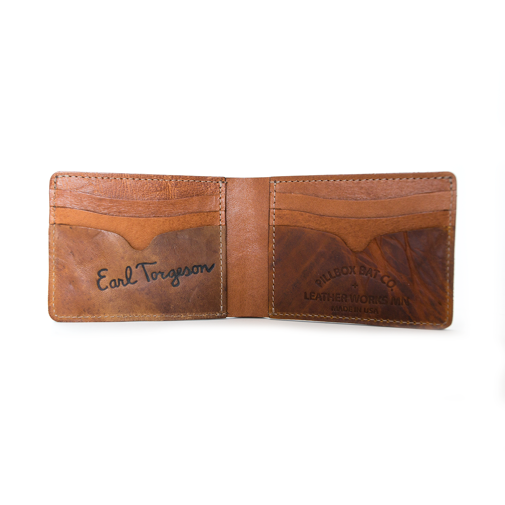 Saddle Tan Billfold - Vintage Ball Glove Leather - Pillbox Bat Co.