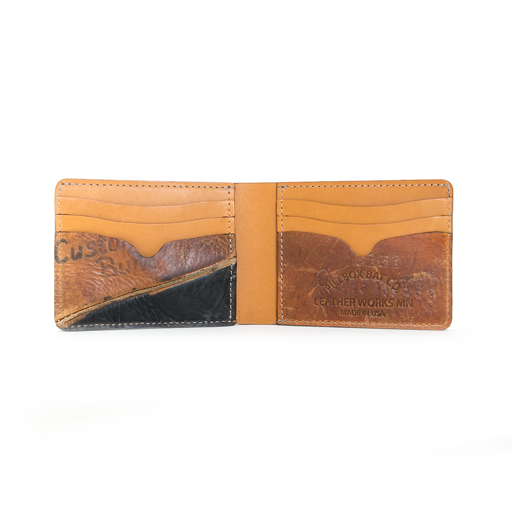 Tan Billfold - Vintage Ball Glove Leather - Pillbox Bat Co.