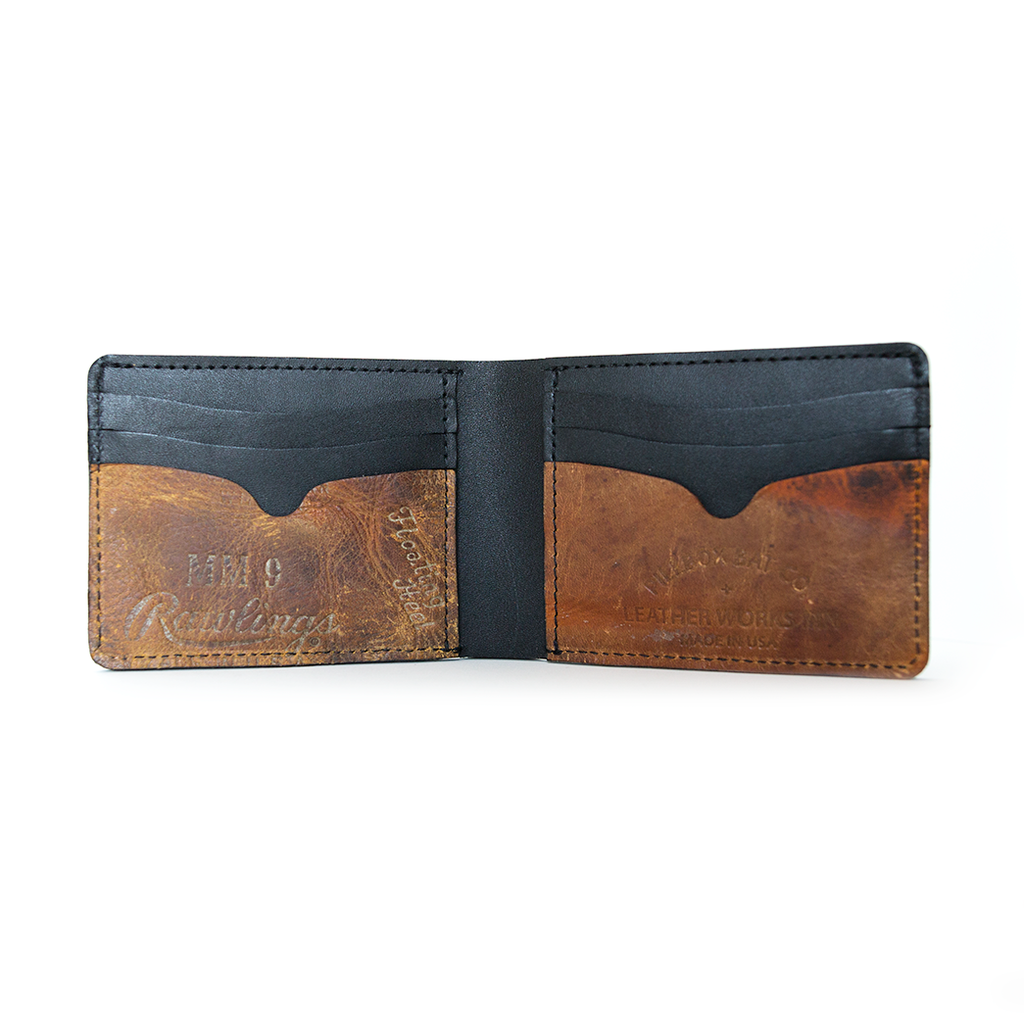 Black Billfold - Vintage Ball Glove Leather - Pillbox Bat Co.