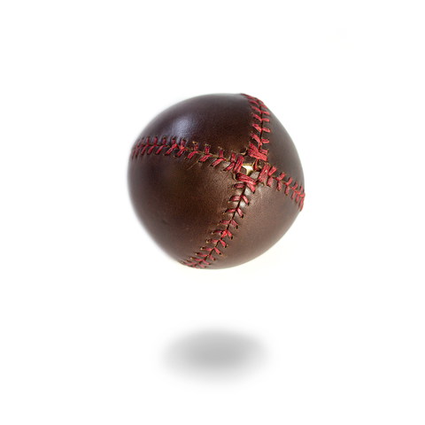 LEMON BALL™ Baseball - Brown Horween (Red Stitching)