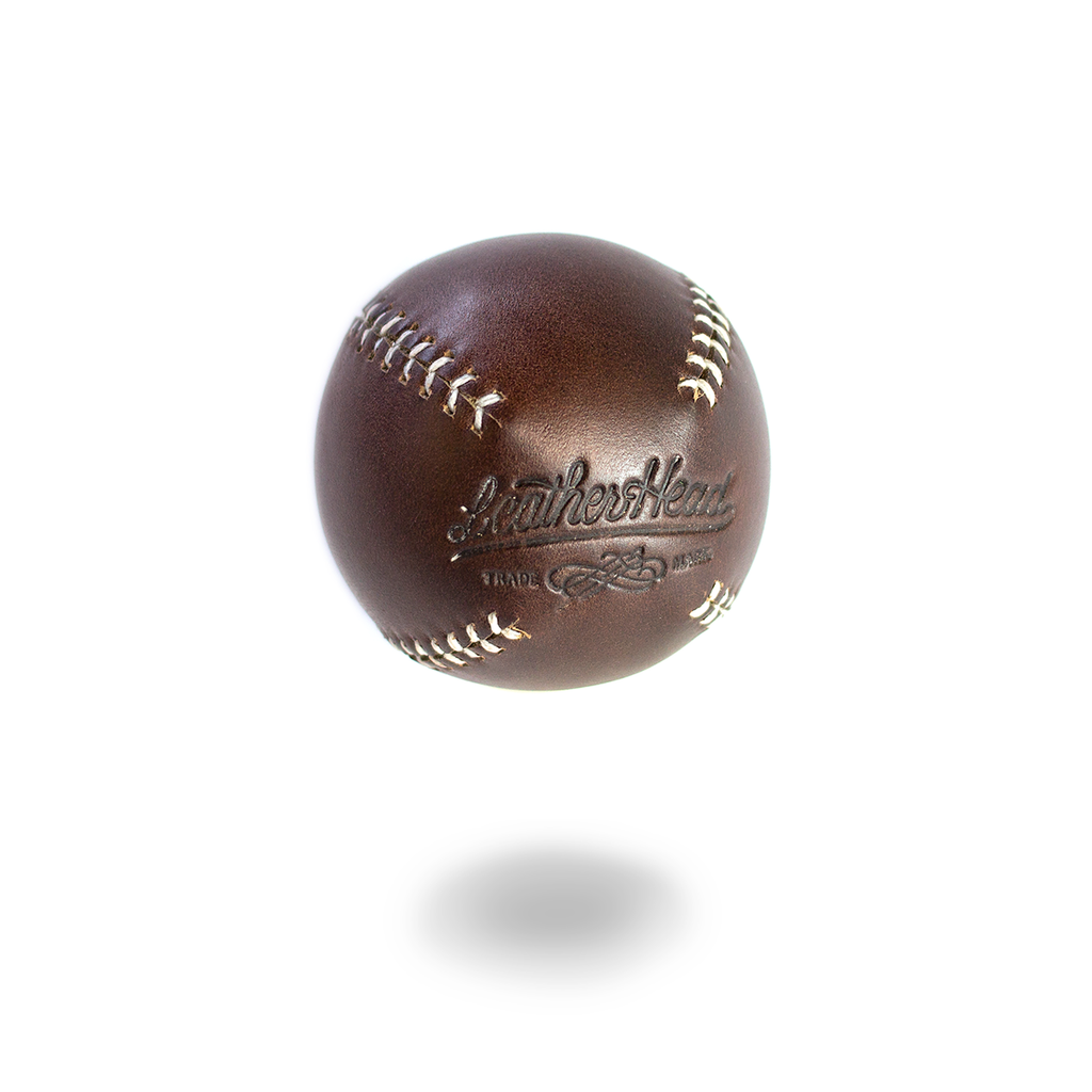 LEMON BALL™ Baseball - Brown Horween (White Stitching)