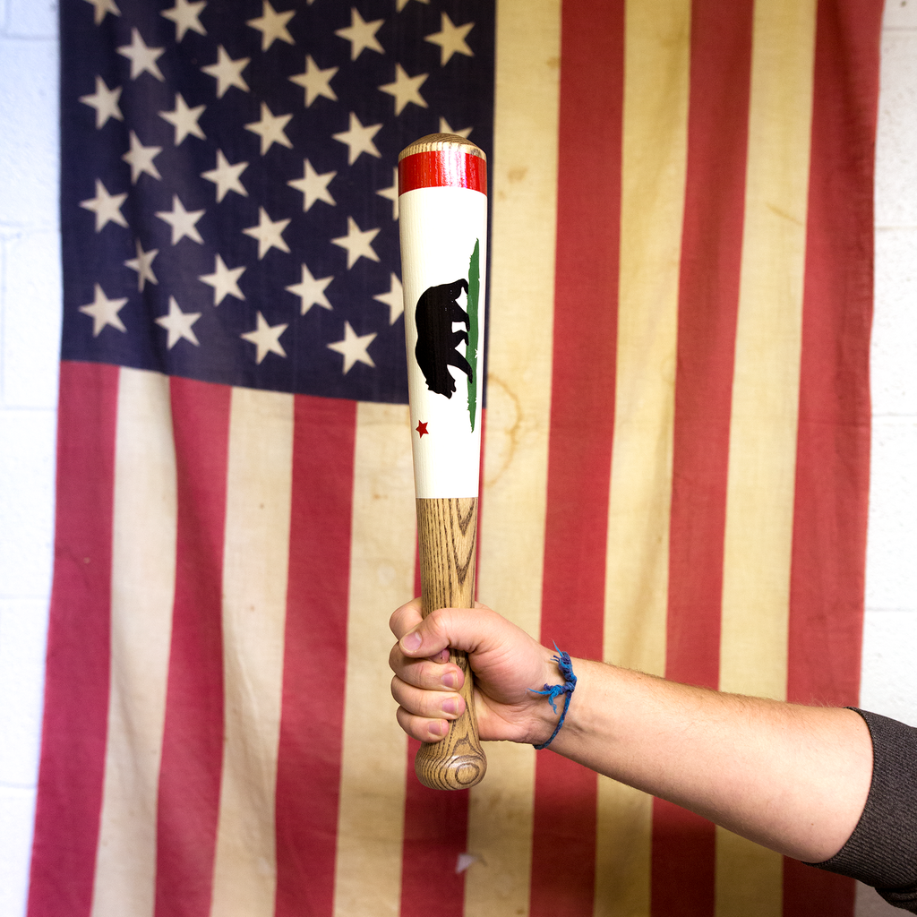"""California Flag"" - Shorts (17"") - Pillbox Bat Co."
