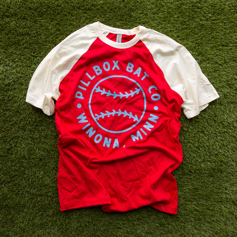 Circle Pillbox Tee (Red/Cream)