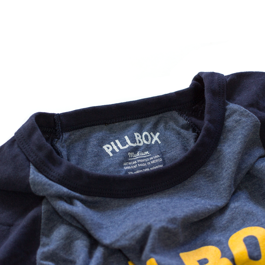 Raglan Baseball 3/4 Tee - Pillbox Bat Co.