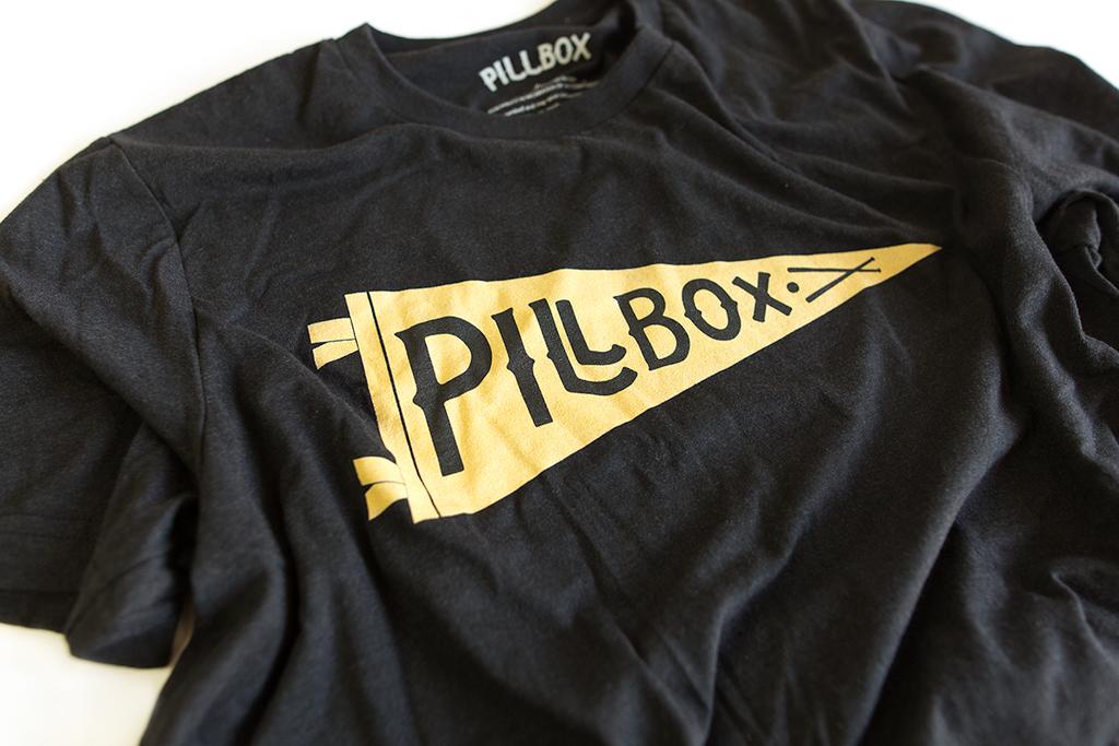 Pillbox Pennant Tee - Pillbox Bat Co.